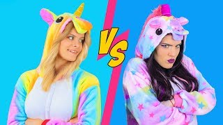 Good Unicorn Makeup vs Bad Unicorn Makeup Challenge / 8 DIY Amazing Unicorn Makeup Ideas