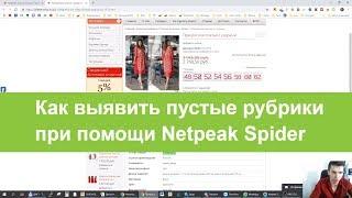 Как выявить пустые рубрики при помощи Netpeak Spider