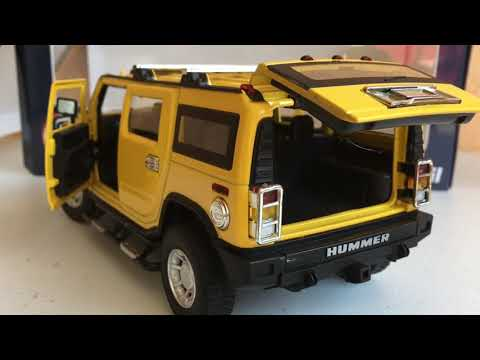 UNIOIL NEW DIE CAST METAL TOY CAR 2018 - HUMMER Yellow Limited Edition