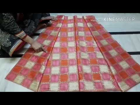 how to make beautifull neck design gown cutting & stitching step by step in hindi