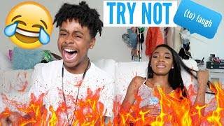 Try Not To Laugh Challenge W/ Kellie Sweet!