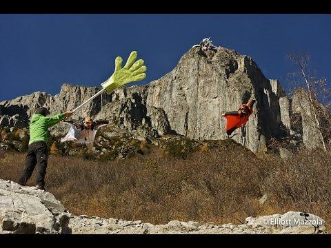 Wingsuit Daredevil High Fives Hand On Insane Low-Level Flight