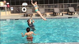 Pool Stunt Gone Wrong? (WK 214) | Bratayley