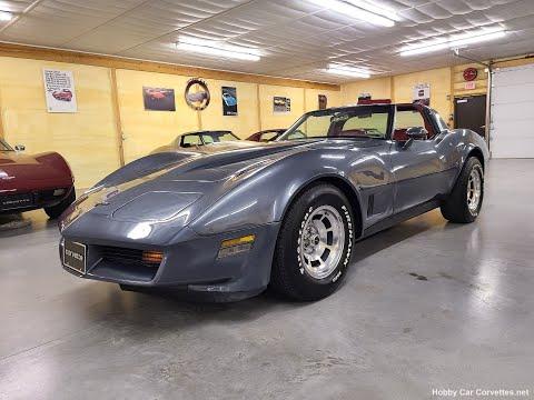 1981 Charcoal Corvette Dark Red Interior For Sale Video