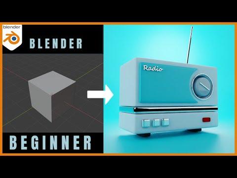 Blender 2.91 Beginner Tutorial - 3D Modeling in Blender for Complete Beginners - Part 1
