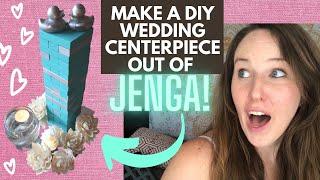 Unique JENGA Wedding Centerpiece DIY with Dollar Tree & Thrift Shop Items