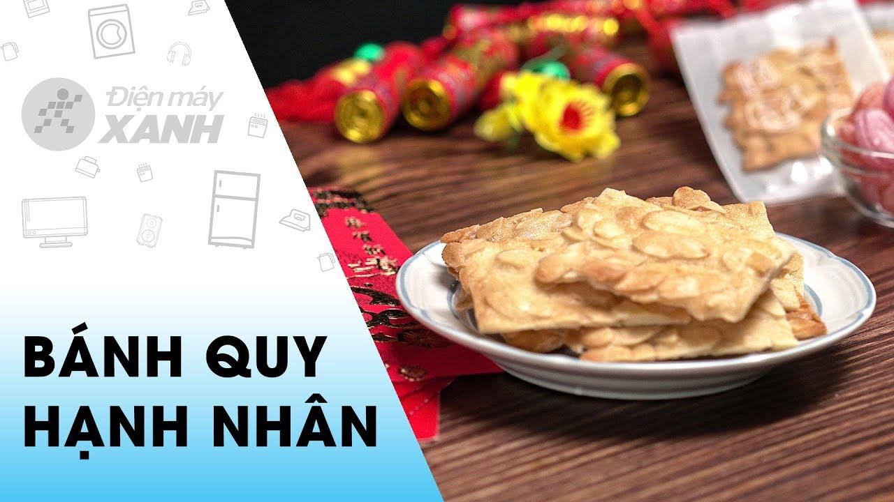 [Video]Cách làm bánh quy hạnh nhân lát thơm giòn nhâm nhi ngày Tết