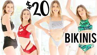 TRYING ON 20 BIKINIS UNDER $20 | Meghan Rienks