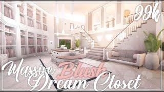 ROBLOX | 99k Massive Blush Dream Closet | Tour + Speedbuild + Screenies