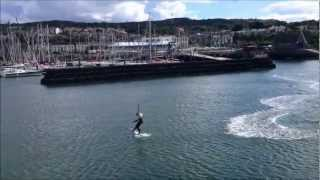 preview picture of video 'Kiteboarding in Howth Harbour'