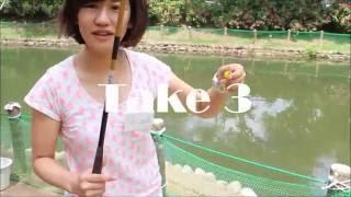 ふれあいの里で魚釣り体験茨城県城里町