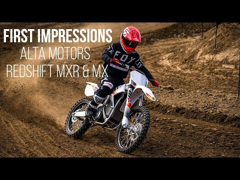 First Impressions: 2018 Alta Motors Redshift MXR and MX – Electric Motocross Bike
