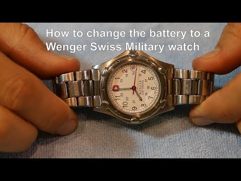 WENGER SWISS MILITARY - how to change the battery to a quartz watch