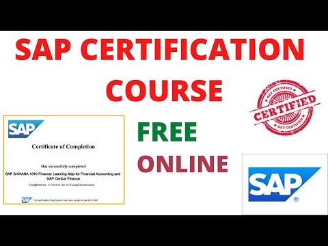 SAP CERTIFICATION | sap certification course free | sap certification online course
