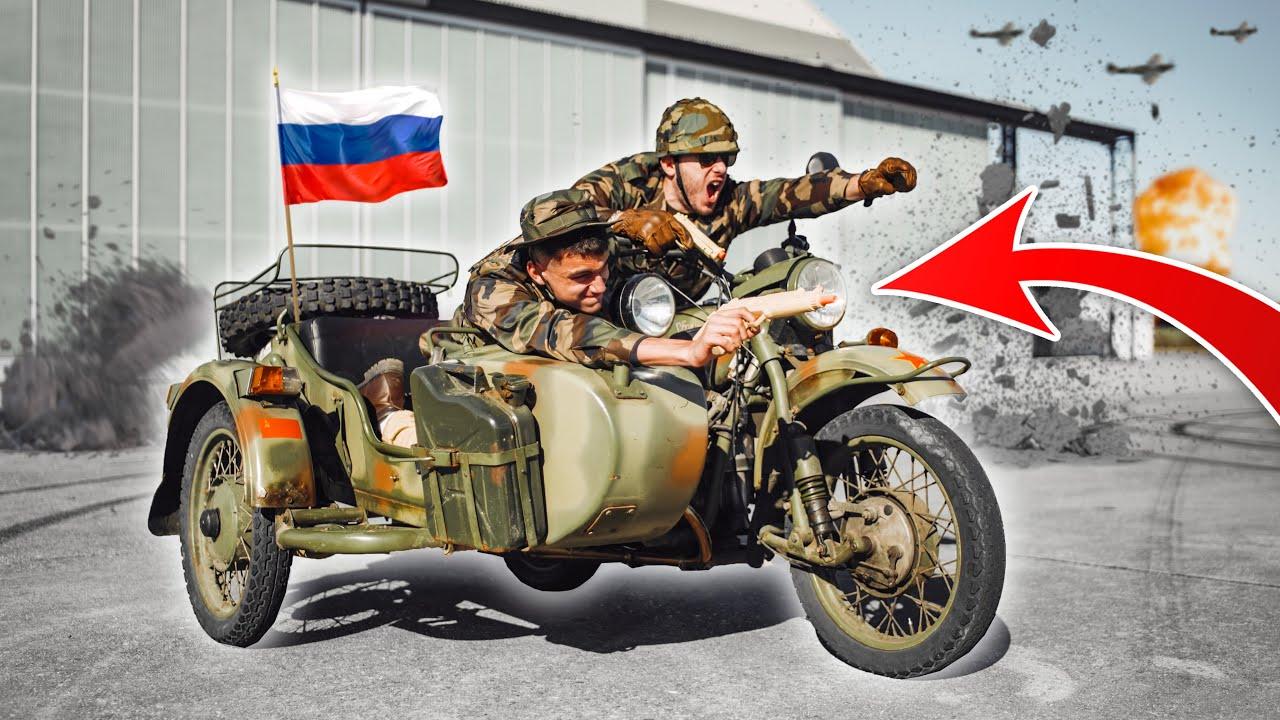 ON ESSAYE UN SIDE-CAR DE L'ARMÉE RUSSE ! TROP DANGEREUX !