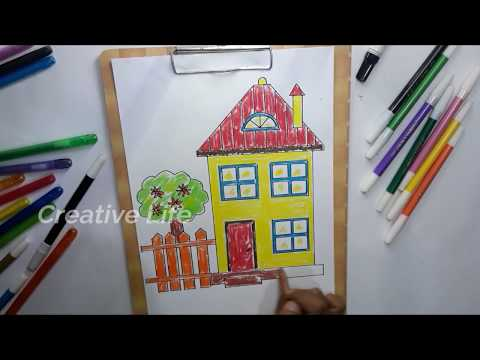 Cara Menggambar Dan Mewarnai Rumah Untuk Anak Anak Tk Sd Yang Unik Kaskus