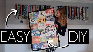HALF MARATHON RUNNERS BIB & MEDAL DISPLAY // EASY DIY // 50 STATES 50 HALF MARATHONS