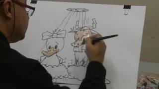 """Como dibujar caricaturas con Luis Ordoñez dibujando con Panam, en """"Panam y Circo"""""""