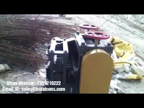Buildcon Scrap Rebar Straightening Machine