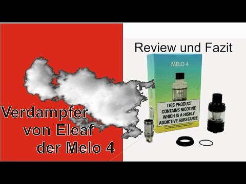 YouTube Video zu Eleaf Melo 4 Verdampfer 25 mm 4.5 ml