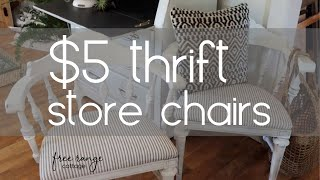 Before And After DIY Furniture Makeover~Thrifted Chairs~Farmhouse