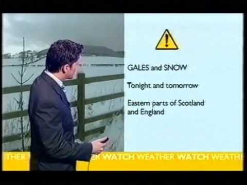 BBC Weather 12th February 2005