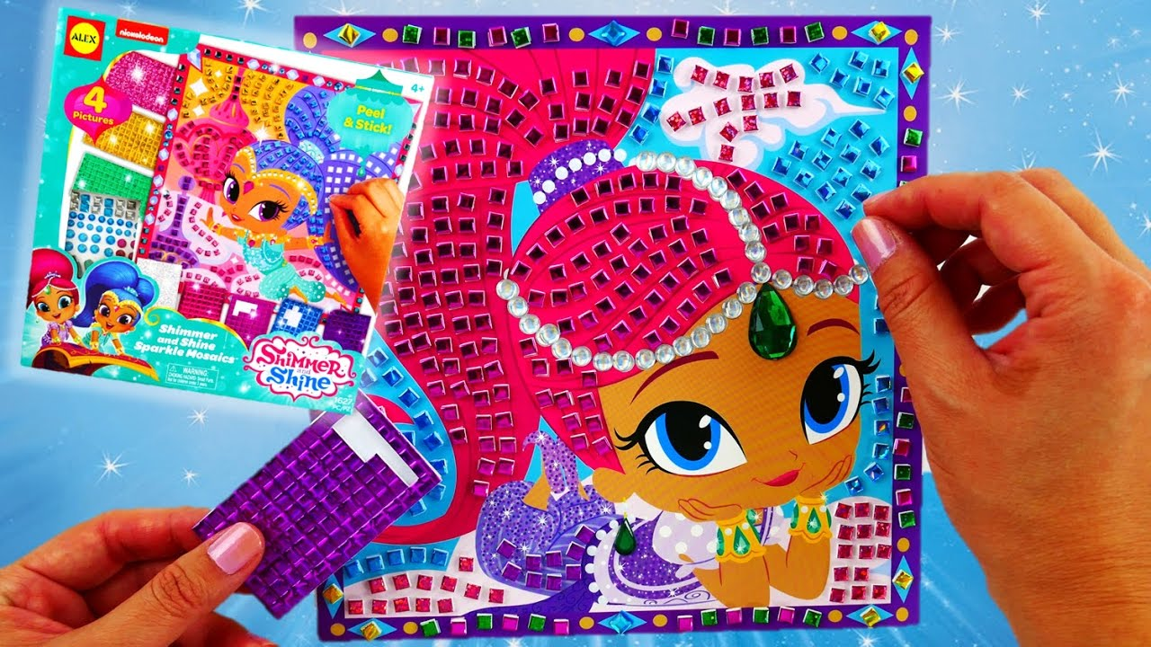 Shimmer and Shine Sparkle Mosaics Art Set and Toy Unboxing and Review | Evies Toy House