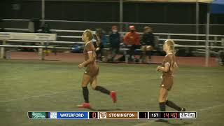 ECC girls' soccer final highlights: Stonington 1, Waterford 0