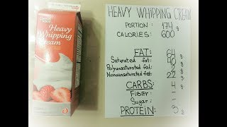 #15 Heavy Whipping Cream: 600 Calorie Keto Blood Sugar Tests