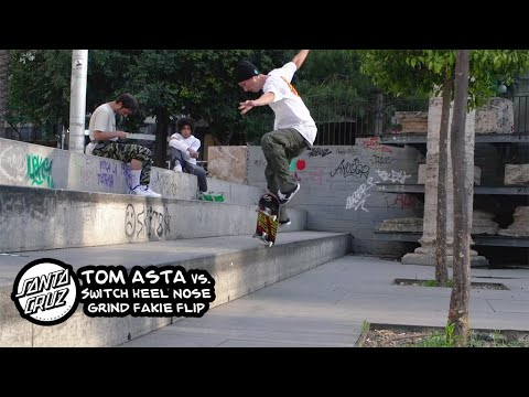 Tom Asta vs. Switch Heel Nosegrind Fakie Flip