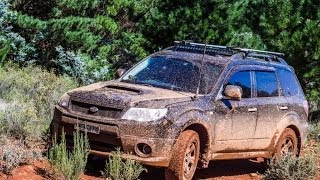 Subaru Forester XT (SH) playing in the mud