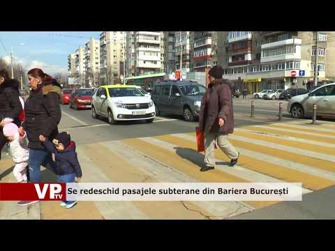 Se redeschid pasajele subterane din Bariera București