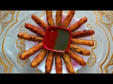 খুব সহজে মচমচে ও স্বাদের পটেটো  ফিঙ্গারস।।Cooking Recipe by Eva!!