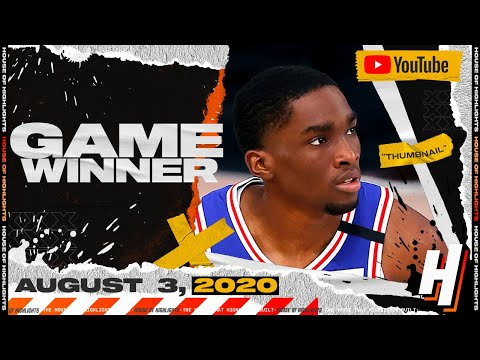 Shake Milton With the GAME-WINNER! 16 PTS Full Highlights | Spurs vs 76ers | August 3, 2020