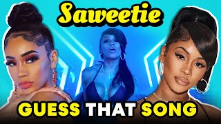 Saweetie Reacts To Guess That Song In Reverse Challenge (Tap In, My Type, ICY GRL)