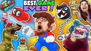 SUPER MARIO ODYSSEY 💗 FGTEEV! DINOSAURS, FROGS & CHOMP CHAINS R BOSS! BEST VIDEO GAME EVER! (Pt. 1) | Kholo.pk