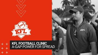 KFL Clinic - A-Gap Power for Spread Offenses