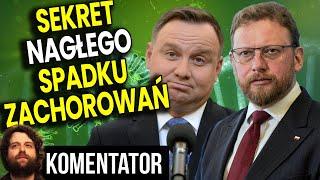 Sekret Nagłego Spadku Zachorowań w Polsce Analiza Komentator Minister Zdrowia Szumowski PIS