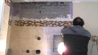 Marble Tile  Master Bathroom Shower Stall