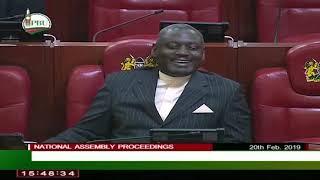 When ODM's Mbadi joked that counterpart Otiende Amollo had dressed in 'Nomiya Church' attire