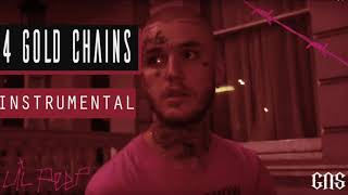 Lil Peep   4 Gold Chains (Instrumental)