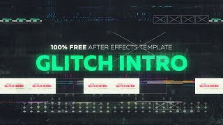 Glitch Intro - Free After Effects Template