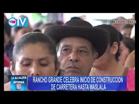 Rancho Grande celebra inicio de construcción de carretera hasta Waslala