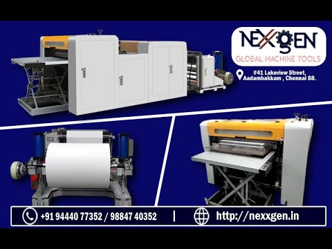 A4,A3,A2,A0 Automatic Paper Cutting Machine Without Belt