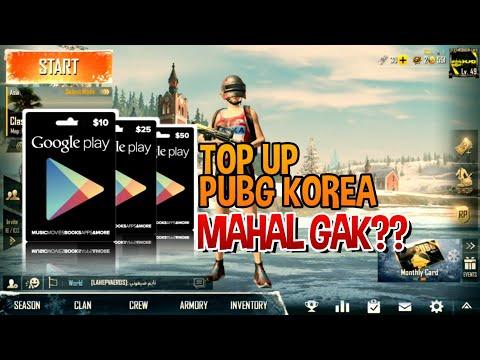 CARA TOP UP PUBG MOBILE KOREA