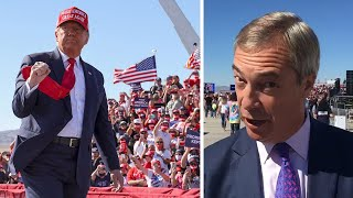 video: Watch: Nigel Farage on the ground on Trump's US Election 2020 campaign trail