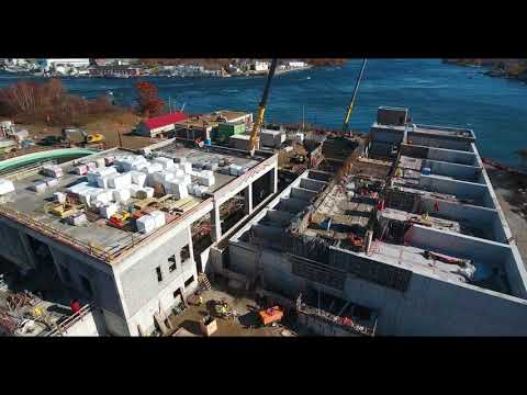 November 2018 Aerial Progress Video Peirce Island WWTF Project