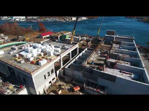 November 2018 Aerial Progress Video Peirce Island WWTF Project