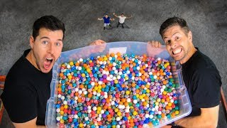 DROPPING 5000 BOUNCY BALLS from WAREHOUSE ROOF!