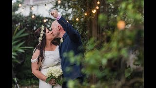 Intimate Backyard Wedding With Amazing Vows // Lindsay And Mike